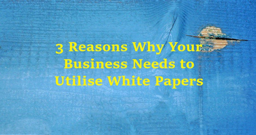 3 Reasons Why Your Business Needs to Utilise White Papers