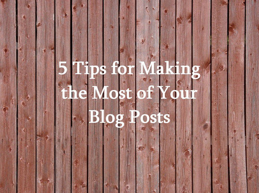 5 Tips for Making the Most of Your Blog Posts